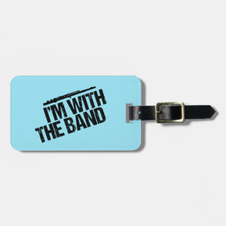 Funny Flute I'm With the Band Luggage Tag