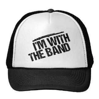 Funny Flute I'm With the Band Trucker Hat