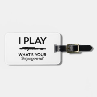 funny flutes design luggage tag