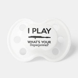 funny flutes design pacifier