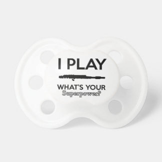 funny flutes design pacifiers