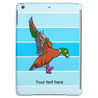 Funny Flying Duck Wearing Pilka Dot Gumboots iPad Air Cover