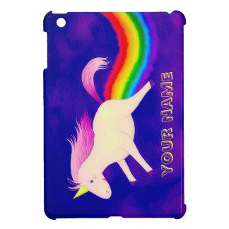 Funny Flying Unicorn Farting a Rainbow iPad Mini Case