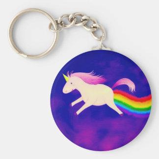 Funny Flying Unicorn Farting a Rainbow Keychain