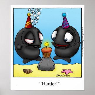 Funny Foggy Bottom Cartoon Birthday Poster
