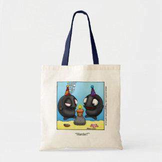 "Funny ""Foggy Bottom"" Cartoon Tote Bag"
