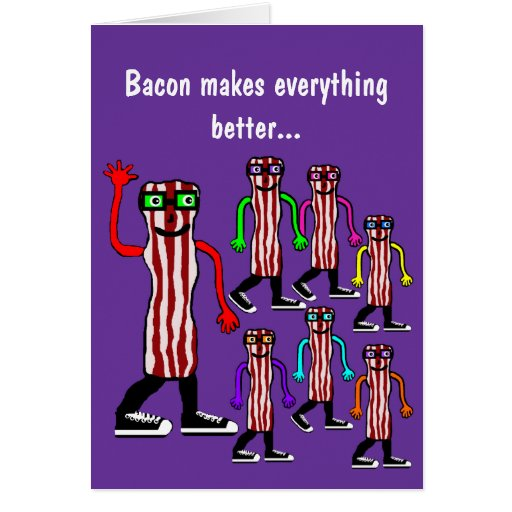 Funny Food Bacon & Egg Birthday Card Gift