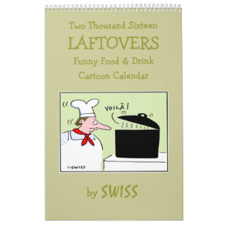 Funny Food Cartoon Kitchen Calendar for Foodies