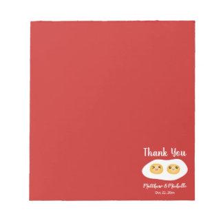 Funny Foodie Bride Groom Cute Wedding Party Favor Notepad