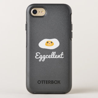 Funny Foodie Cute Egg Eggcellent Humorous Food Pun OtterBox Symmetry iPhone 7 Case