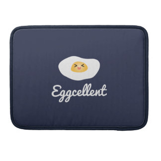 Funny Foodie Cute Egg Eggcellent Humorous Food Pun Sleeve For MacBooks