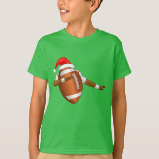 Funny Football Dab Sports Dance Santa Hat T-Shirt