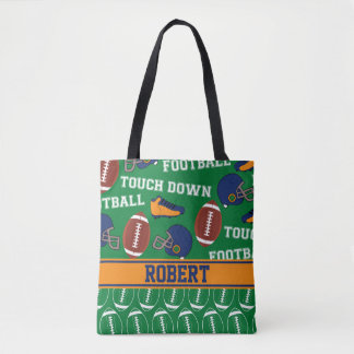 FUNNY FOOTBALL Sports Cartoon: ADD YOUR NAME Tote Bag