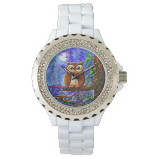 Funny Forest Owl Creationarts Wristwatch