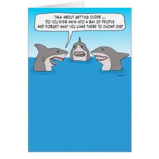 Funny Forgetful Shark Birthday Card