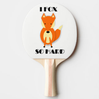 Funny Fox Cartoon Ping Pong Paddle