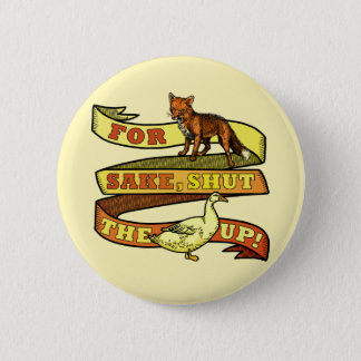 Funny Fox Duck Animal Pun 2 Inch Round Button
