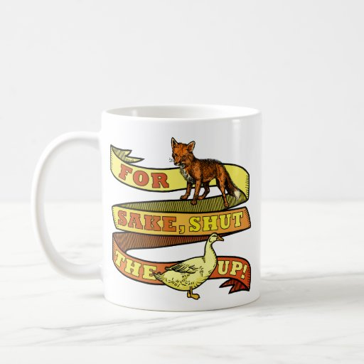 Funny Fox Duck Animal Pun Mugs