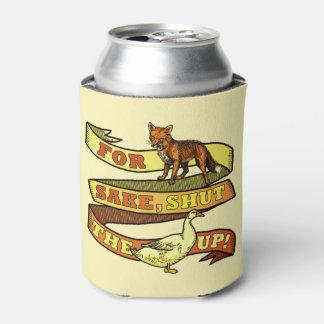Funny Fox Sake Duck Animal Pun Can Cooler