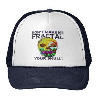 Funny Fractal Skull Trucker Hat