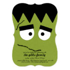 Funny Frankenstein Face for Halloween Party Card