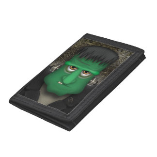 Funny Frankenstein Halloween Costume Tri-fold Wallets