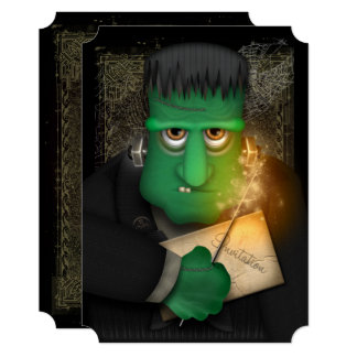Funny Frankenstein Halloween Party Invitation