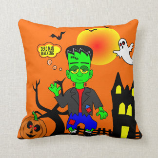 Funny Frankenstein's Monster Image Throw Pillow
