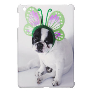 Funny French Bull Dog Black and White Butterfly Case For The iPad Mini