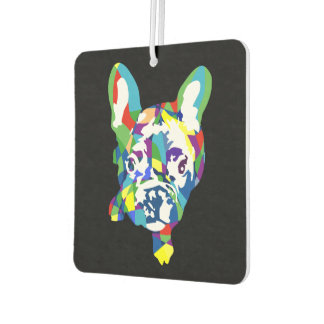 Funny French Bulldog Illustration Air Freshener