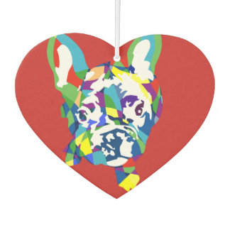 Funny French Bulldog Illustration Car Air Freshener