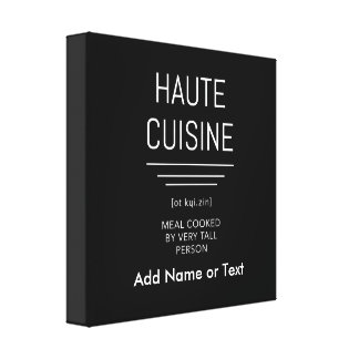 Funny French Chef Haute Cuisine Canvas Print