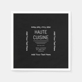 Funny French Chef Haute Cuisine Disposable Napkin