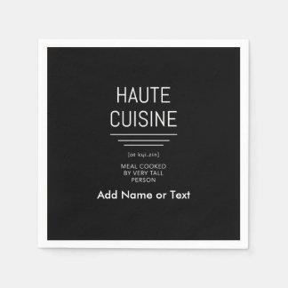 Funny French Chef Haute Cuisine Paper Napkin