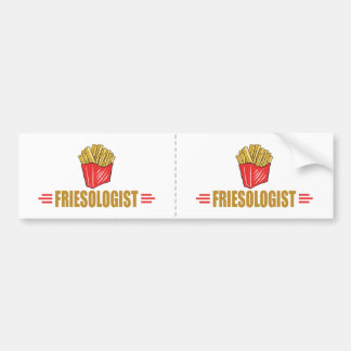 Funny French Fries Lover Bumper Sticker
