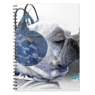 funny frenchbulldogs icon spiral notebook