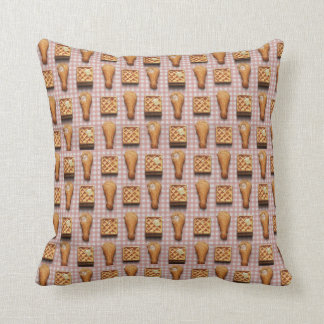 Funny fried chicken and waffles hipster kitsch throw pillow