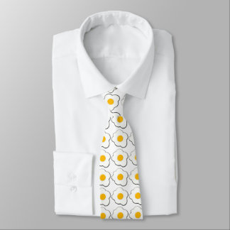 Funny fried eggs for breakfast tie
