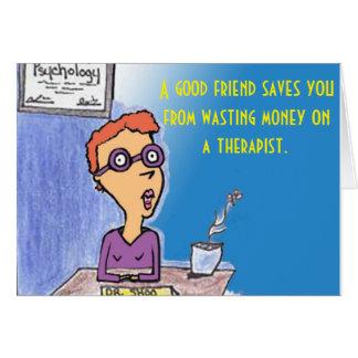 Funny Friend Cartoon Card
