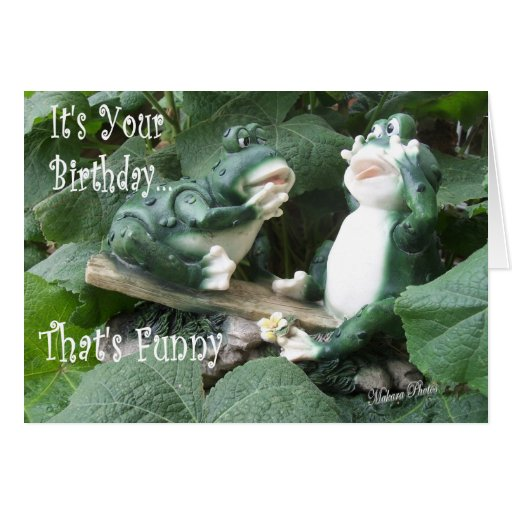 Funny Frog Bday card