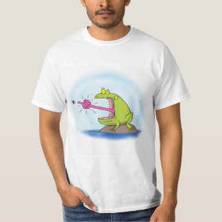 Funny frog cartoon. T-Shirt