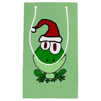 Funny Frog Christmas Gift Bag