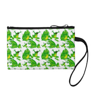 Funny Frog Emotions Angry Mad Curious Scared Frogs Coin Purse