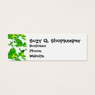 Funny Frog Emotions Angry Mad Curious Scared Frogs Mini Business Card