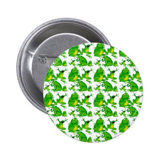 Funny Frog Emotions Mad Curious Scared Frogs 2 Inch Round Button