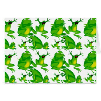 Funny Frog Emotions Mad Curious Scared Frogs Card