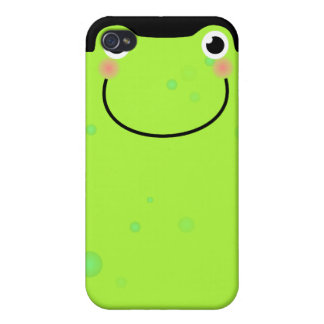 Funny Frog Face Covers For iPhone 4