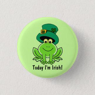 Funny Frog Leprechaun with Top Hat I'm Irish 1 Inch Round Button
