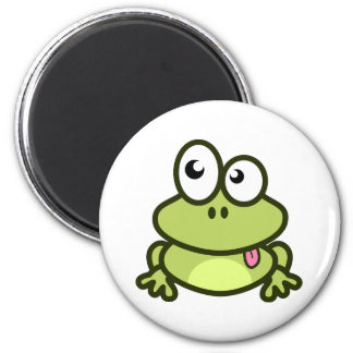 Funny frog magnet