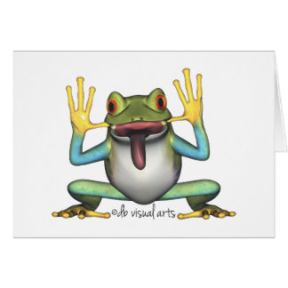 Funny Frog Note Cards